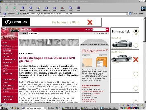 Wahlwerbung bei Spiegel online